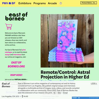 Remote Control Book — PMVABF | East of Borneo