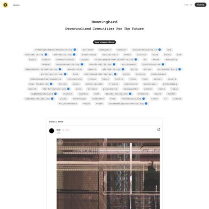 Hummingbard - Matrix-powered communities