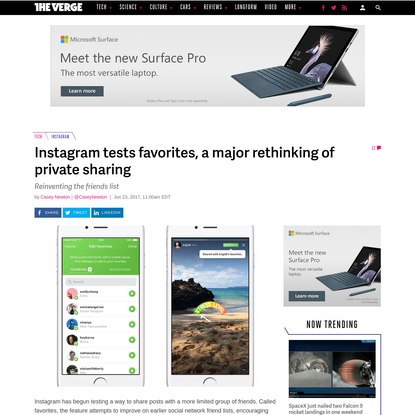 Instagram tests favorites, a major rethinking of private sharing