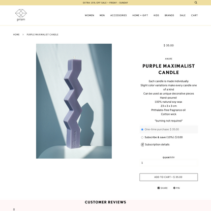 Purple Maximalist Candle