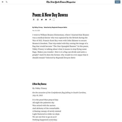 Poem: A New Day Dawns