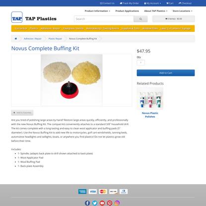 Novus Complete Buffing Kit : TAP Plastics
