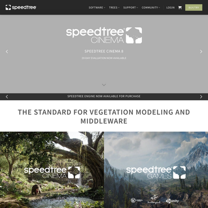 SpeedTree – 3D Vegetation Modeling and Middleware