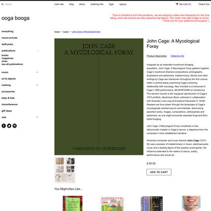 John Cage: A Mycological Foray