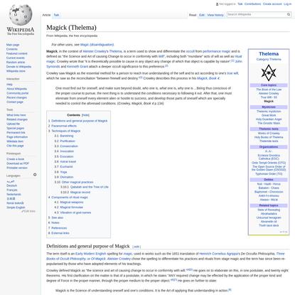 Magick (Thelema) - Wikipedia