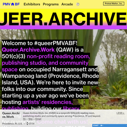 PMVABF I Queer.Archive.Work