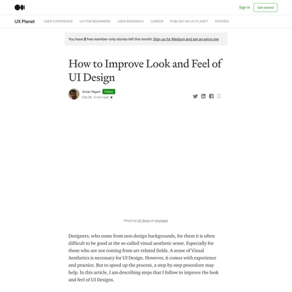 How to Improve Look and Feel of UI Design