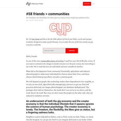 #58 friends > communities