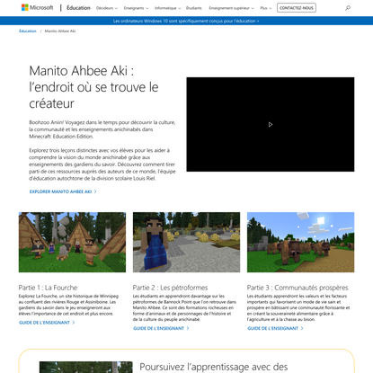 Minecraft - Monde autochtone - Microsoft Education