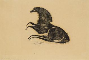Ewald Mataré Liegendes Pferd / Reclining horse, 1950 woodcut 22.8 x 27.5 cm