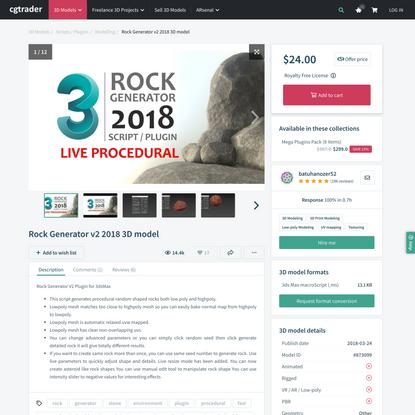Rock Generator v2 2018 | 3D model