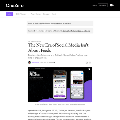 The New Era of Social Media Isn't About Feeds
