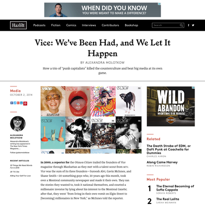 Vice: We've Been Had, and We Let It Happen   Hazlitt