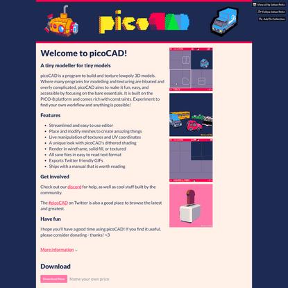 picoCAD by Johan Peitz