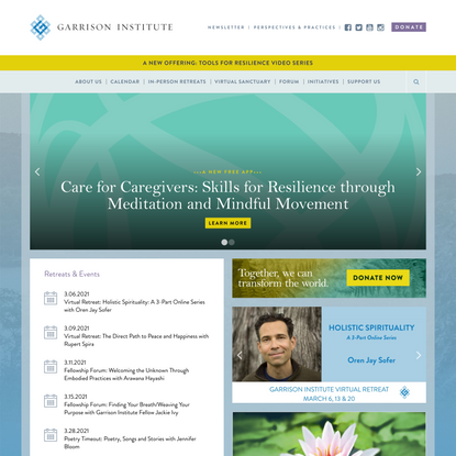 The Garrison Institute |Timeless Wisdom, Timely Action