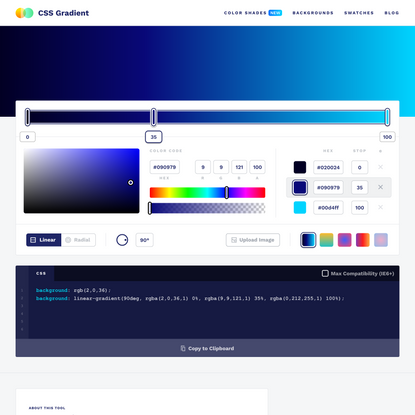 CSS Gradient — Generator, Maker, and Background