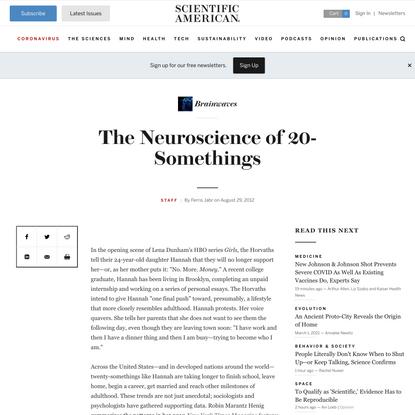 The Neuroscience of 20-Somethings