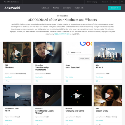 ADCOLOR: Ad of the Year Nominees and Winners