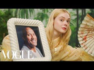 Elle Fanning's Fan Fantasy   Vogue