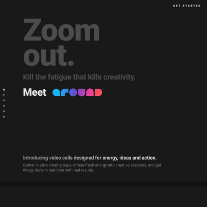 Around | Video calls designed for energy, ideas and action