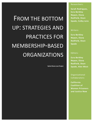 From The Bottom Up: Strategies and Practices for Membership‐Based Organizations