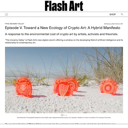 Toward a New Ecology of Crypto Art: A Hybrid Manifesto | | Flash Art