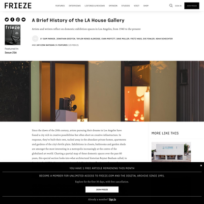 A Brief History of the LA House Gallery