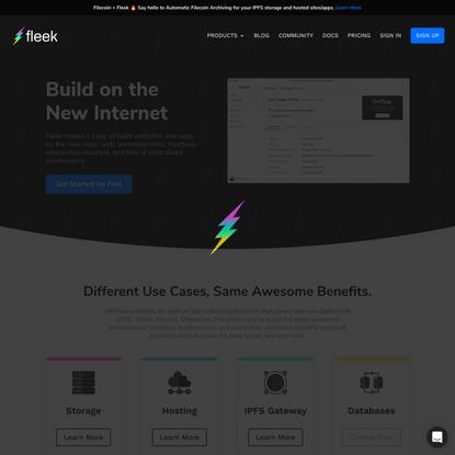 Fleek: Build. Preview. Deploy. Scale.