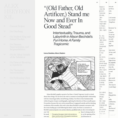 """Alex Heeyeon Kil - """"(Old Father, Old Artificer,) Stand me Now and Ever In Good Stead"""""""
