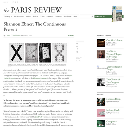 Shannon Ebner: The Continuous Present
