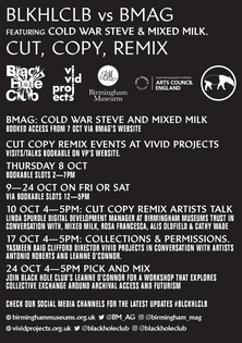 Cut Copy Remix flyer back.