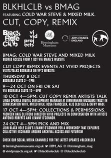 Cut Copy Remix flyer back.