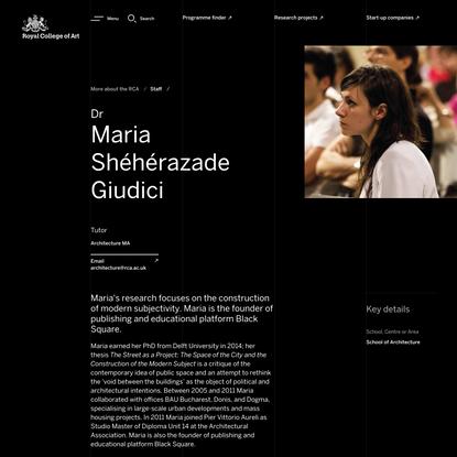 Dr Maria Shéhérazade Giudici