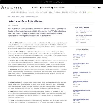 A Glossary of Fabric Pattern Names - Sailrite