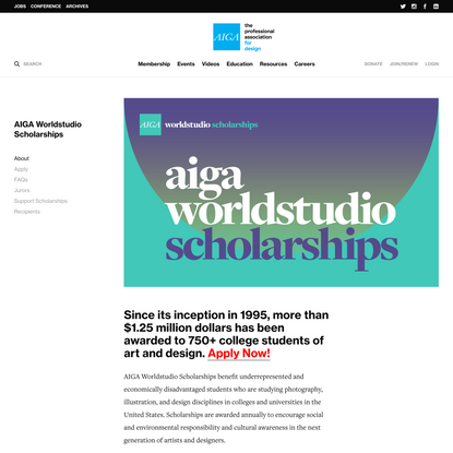 AIGA Worldstudio Scholarships