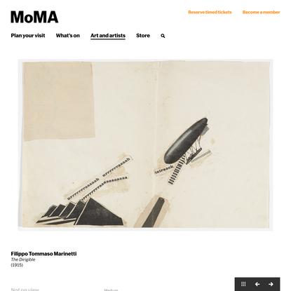 Filippo Tommaso Marinetti. The Dirigible. (1915) | MoMA