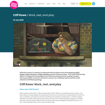 Cliff Rowe: Work, rest, and play - People's History Museum
