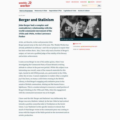 Berger and Stalinism
