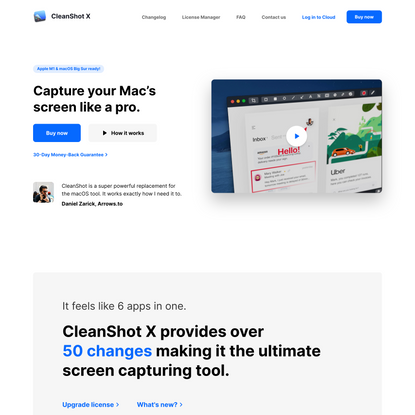 CleanShot X for Mac
