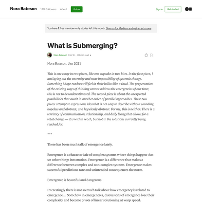 What is Submerging?