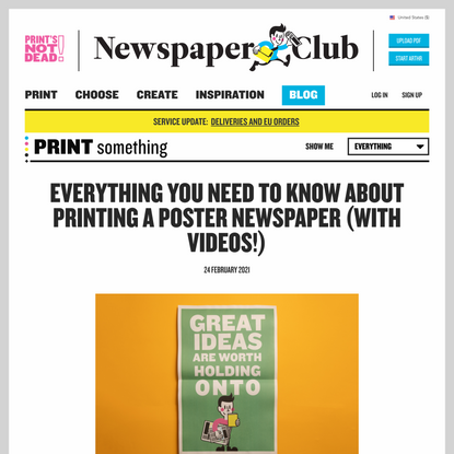 Everything you need to know about printing a poster newspaper (with videos!) - Newspaper Club