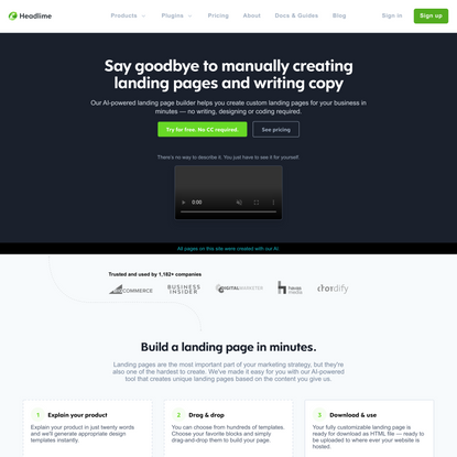 Say goodbye to manually creating landing pages and writing copy