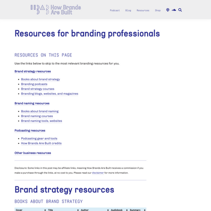 Resources for branding professionals | How Brands Are Built