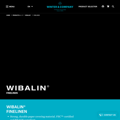 WIBALIN® FINELINEN | Creative cover materials for premium packaging, luxury packaging, publishing and displays.