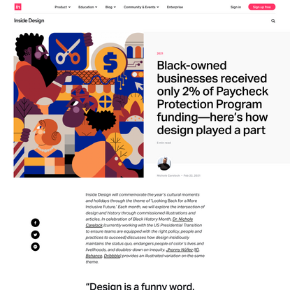 Black-owned businesses received only 2% of Paycheck Protection Program funding—here's how design played a part | Inside Desi...