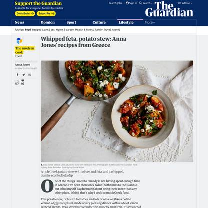 Whipped feta, potato stew: Anna Jones' recipes from Greece   The Modern Cook
