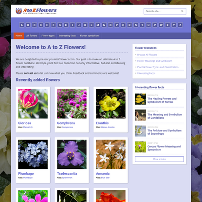 A to Z Flowers | The Ultimate Flower Database