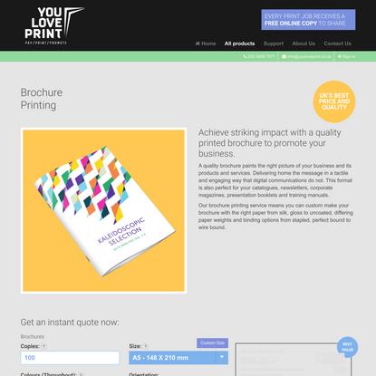 Brochure Printing | Online Brochure Printing UK | YouLovePrint