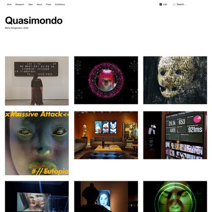 Quasimondo | Mario Klingemann, Artist