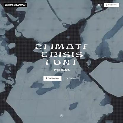 Climate crisis font | Helsingin Sanomat